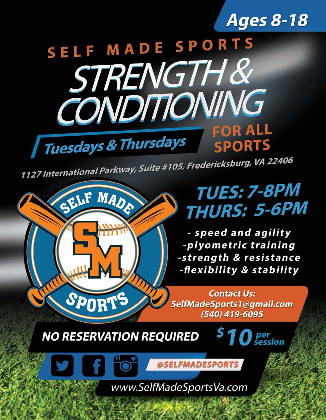 Strength & Conditioning Sessions (All Athletes) – Self Made